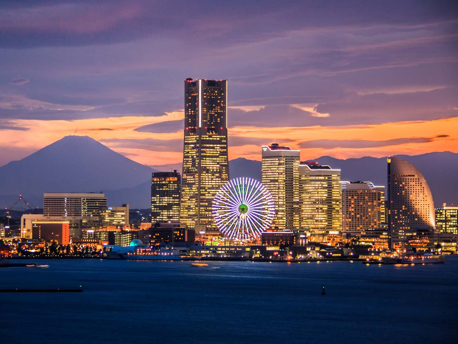 Skyline of Yokohama, Japan
