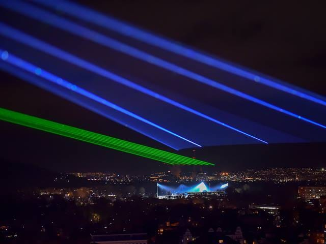 Laser beams over Jena