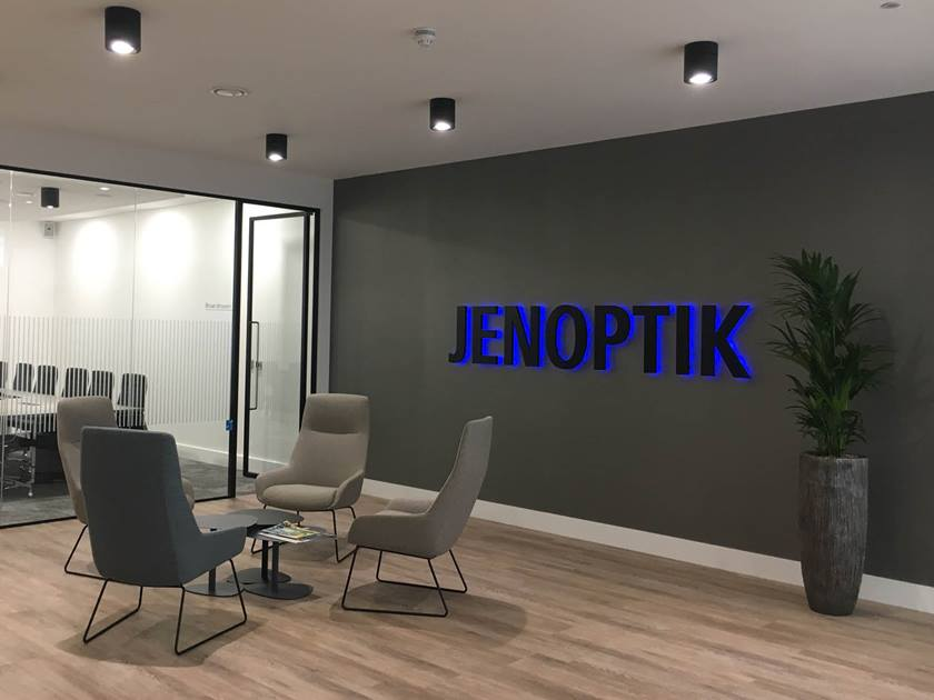 New Jenoptik office building in Camberley, UK