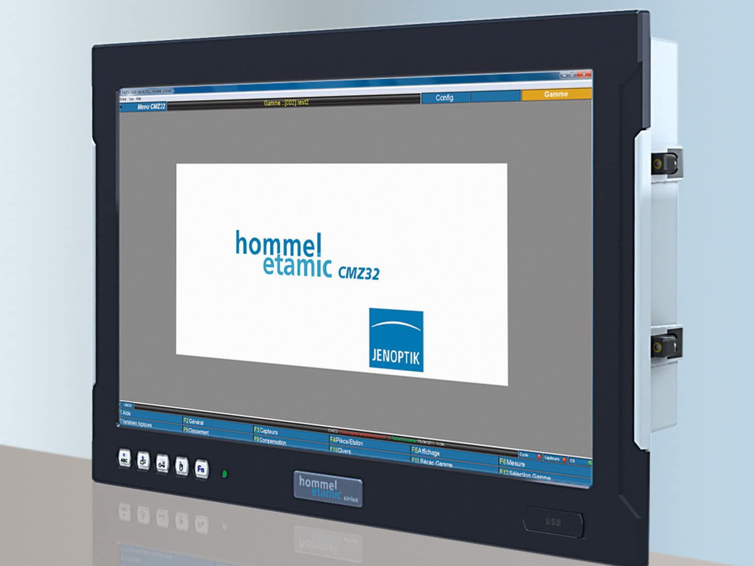 The Hommel-Etamic sirius: Rugged housing, impressive processing power and simple operation