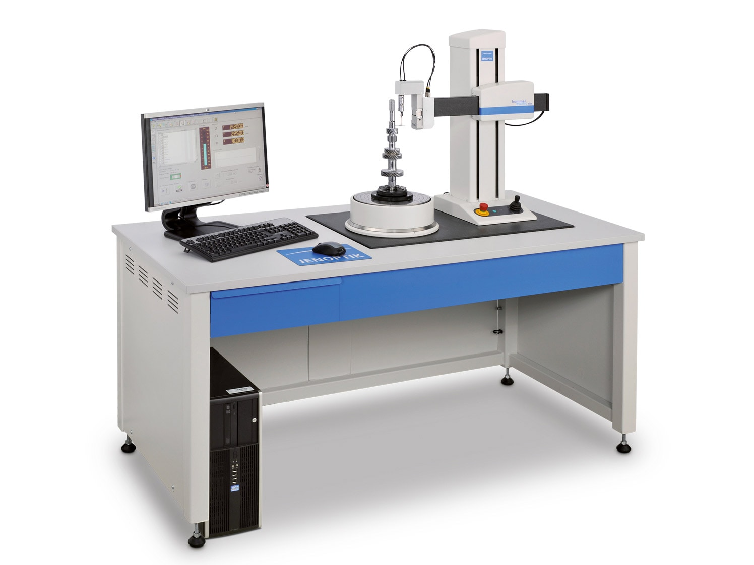 Hommel-Etamic F435 and F455 - -as compact table-top units or integrated in an ergonomic measuring station