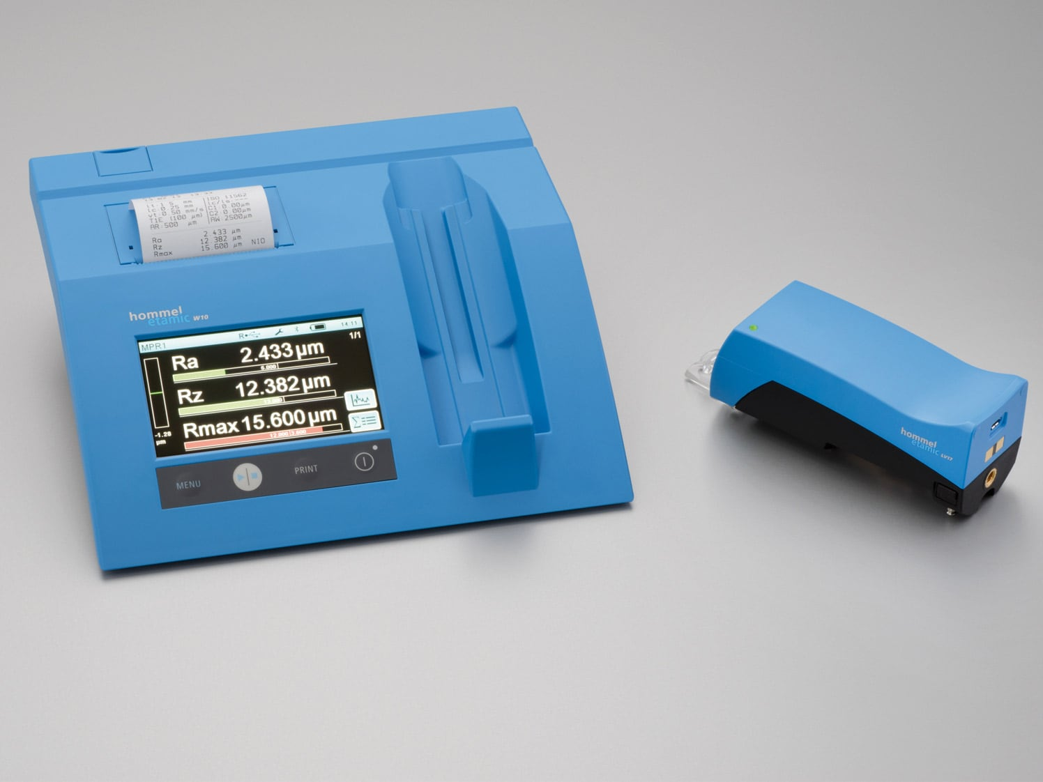 Mobile roughness measurement with the Waveline W10