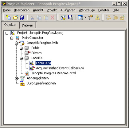 Jenoptik–LabView-project